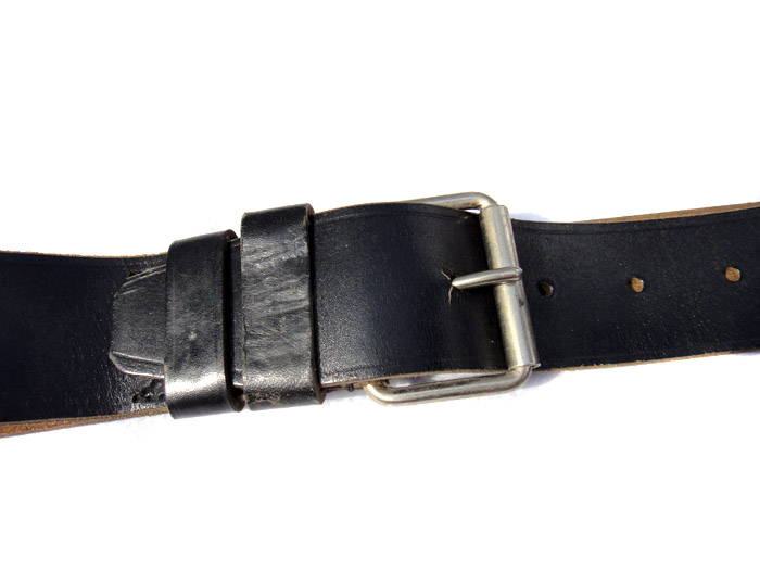 Genuine Soviet Military Officer Uniform Belt Leather Black 1956
