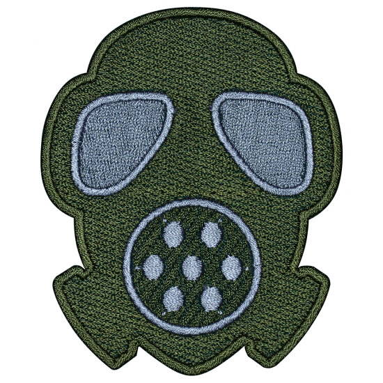 Gasmask Airsoft Game Sleeve Patch Embroidered Gas Mask