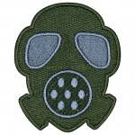 Russomilitare: Gasmask Airsoft Game Sleeve Patch Embroidered Gas Mask