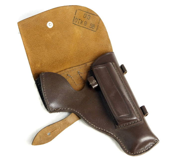 Makarov Pistol Pm Gun Brown Leather Holster 1968 Soviet Surplus