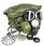 Russomilitare: Soviet Russian Army Military PMK-3 Gas Mask Kit Black