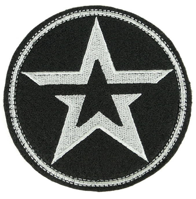 Army Of Russia Embroidered Sleeve Patch Velcro Star Black