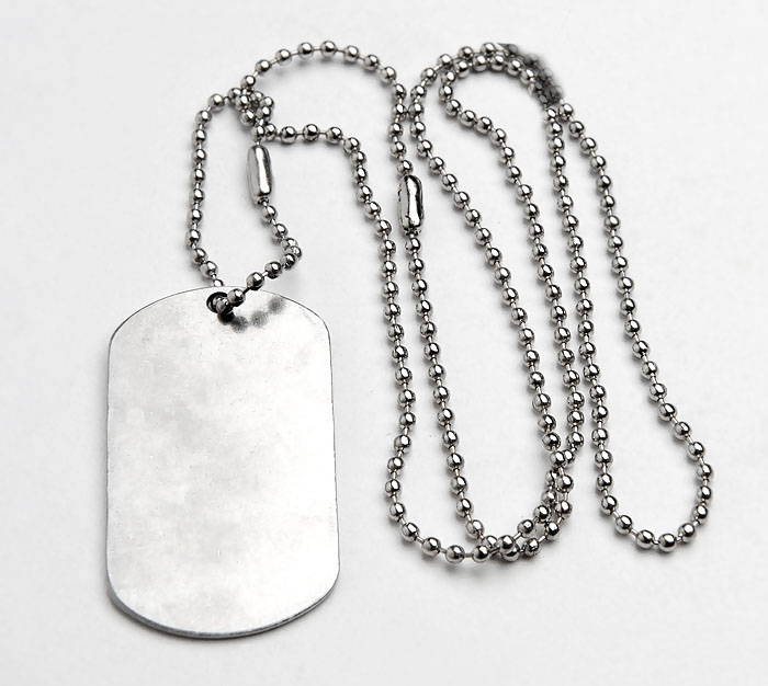 Soviet Military Russian KGB Secret Service Dog Tag Steel Chains