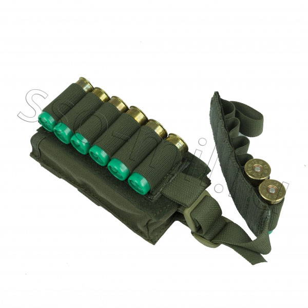 SSO MOLLE Pouch for 12 Rounds Shells Slugs 12 Gauge Olive