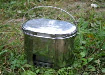 Russomilitare: Compact Stainless Steel Bowl Pot 2.2L (74 oz) with Stove