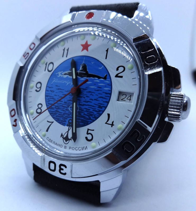 Russian Vostok Watch Watertight Mechanical Submarine