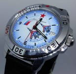 Russian Army Military Vostok Wristwatch Watertight Mechanical Fighter Su-35s