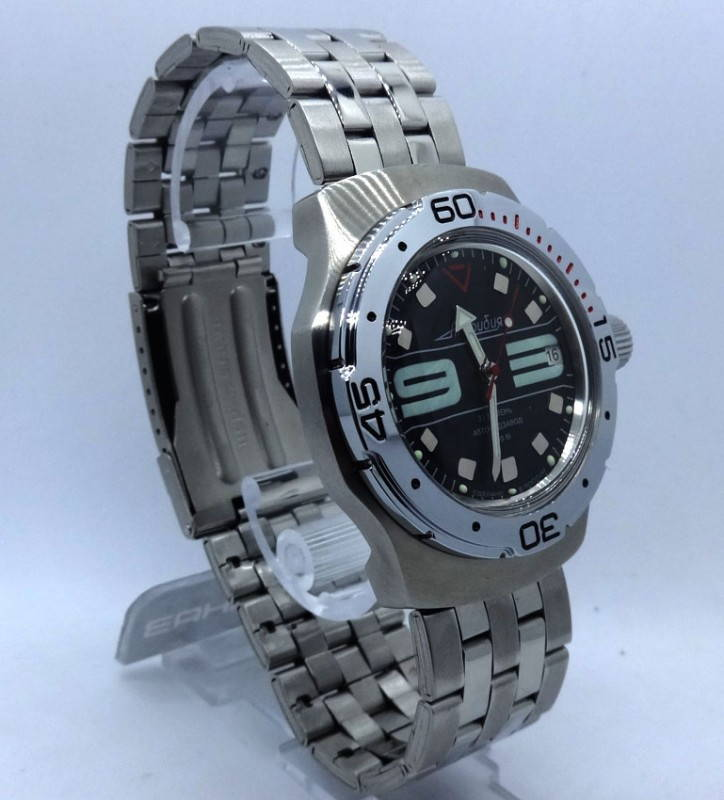 Russian wrist watch for diving Vostok amphibian automatic 31 jewels 200m #9