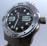 Russomilitare: Russian wrist watch for diving Vostok amphibian automatic 31 jewels 200m #9
