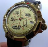 Russomilitare: Russian army military Vostok wristwatch watertight mechanical