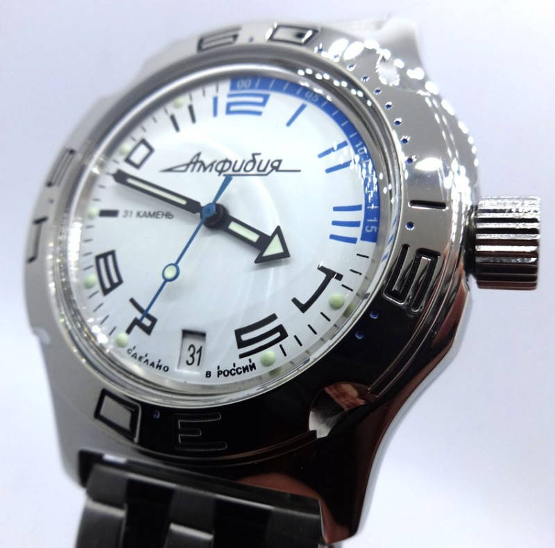 Russian Wrist Watch For Diving Vostok Amphibian Automatic 31 Jewels 200m #0