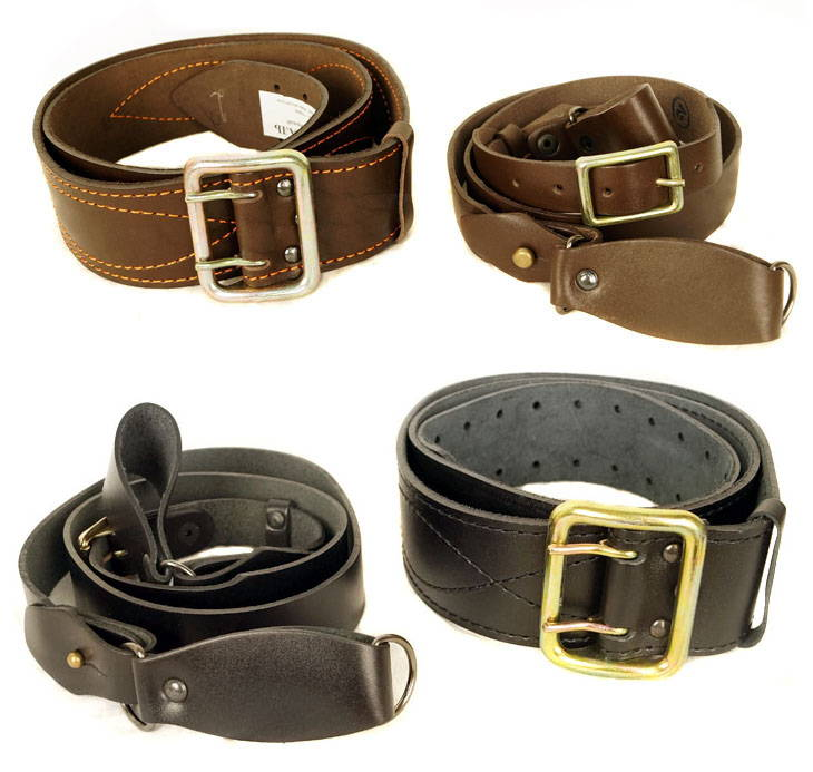 Russian Military Officer Leather Belt Harness Baldric Black / Brown