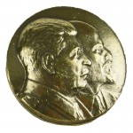 Russomilitare: Soviet Leaders Stalin & Lenin Pin Badge